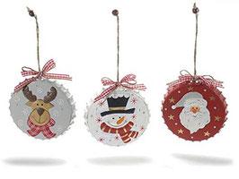 Weihnachtsdeko zum aufhängen mit Weihnachtsmotiv 3er Set Ø 10,5 cm