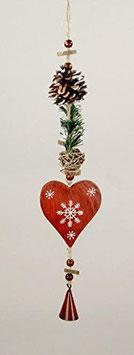 Weihnachten Girlande/ Dekohänger-Herz ca.33cm 2er-Set