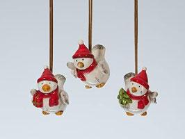 Weihnachten Deko Wintervogel z.Anhängen 3er - Set