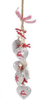 Weihnachtsdeko aus Metall mit Herz zum hängen