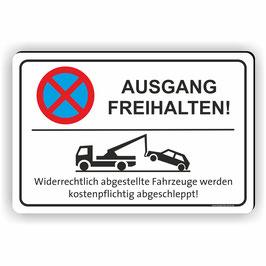 PV-006 Parkverbotschild Ausgang Freihalten