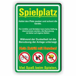 D-038 Spielplatz Schild
