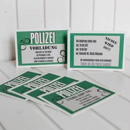 EI-006 Einladungskarte - Polizeivorladung