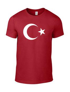 T-Shirt - Türkei Stern - Aufdruck Groß Mittig