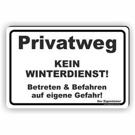 WI-011 Privatweg Kein Winterdienst schwarz