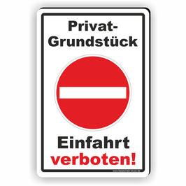 D-004 Privatgrundstück - Einfahrt verboten