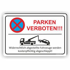 PV-025 Parkverbotschild Parken verboten mit Abschleppwagen