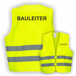 Warnweste GELB DIN EN 471 BAULEITER