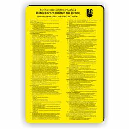 D-031 Kranvorschriften