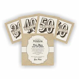 EI-016 Einladungskarte - VINTAGE
