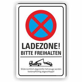 PV-028 Parkverbotschild Ladezone bitte freihalten