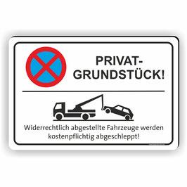 PV-002 Parkverbotschild Privatgrundstück