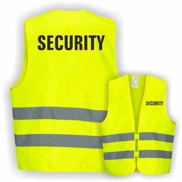 Warnweste GELB DIN EN 471 SECURITY
