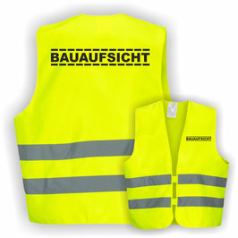 Warnweste GELB DIN EN 471 BAUAUFSICHT