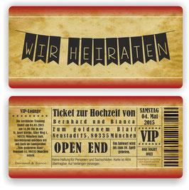 HO-013 Einladungskarte - Wimpelkette