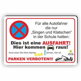 PV-020e Parkverbotschild Singen und Klatschen Don`t eat yellow snow
