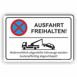 PV-004 Parkverbotschild Ausfahrt Freihalten