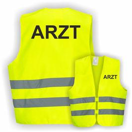 Warnweste GELB DIN EN 471 ARZT