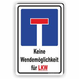 D-014 Sackgasse keine Wendemöglichkeit für LKW