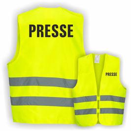 Warnweste GELB DIN EN 471 PRESSE