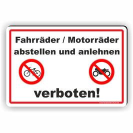 D-015 Fahrräder / Motorräder abstellen verboten