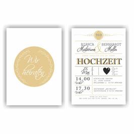 HO-011 Einladungskarte - Wir heiraten 2