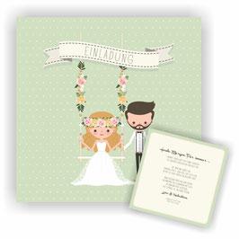HO-022 Hochzeitseinladung - Schaukel 2