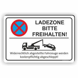 PV-026 Parkverbotschild Ladezone bitte freihalten