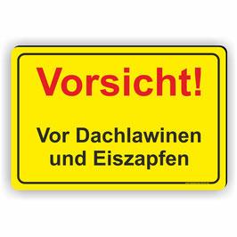WI-003 Vorsicht Dachlawinen/Eiszapfen