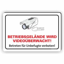 VÜ-001 Betriebsgelände wird Videoüberwacht!