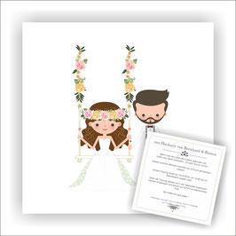 HO-020 Hochzeitseinladung - Schaukel