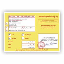 EI-011 Einladungskarte -  Krankmeldung