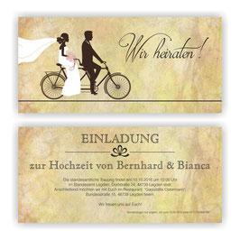 HO-008 Einladungskarte - Fahrrad