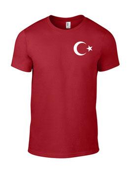 T-Shirt - Türkei Stern - Aufdruck klein Links auf der Brust