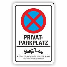 PV-030 Parkverbotschild PRIVATPARKPLATZ