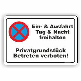 PV-008 Parkverbotschild Privatgrundstück Betreten verboten