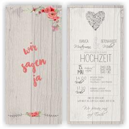 HO-021 Einladungskarte - Vintage