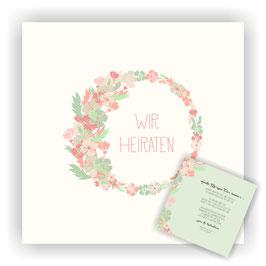 HO-004 Hochzeitseinladung - Kranz