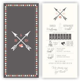 HO-019 Einladungskarte - Pfeile