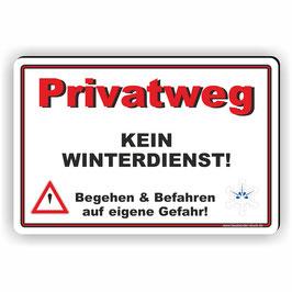 WI-010 Privatweg kein Winterdienst Quer