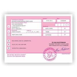 EI-010 Einladungskarte -  Privatrezept