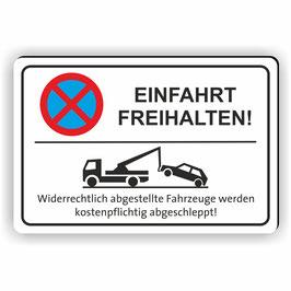 PV-005 Parkverbotschild Einfahrt Freihalten