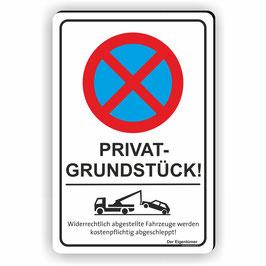 PV-011 Parkverbotschild Privatgrundstück (Hochformat)