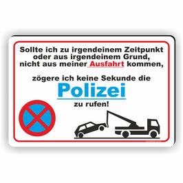 PV-018 Parkverbotschild Poizei wird gerufen!
