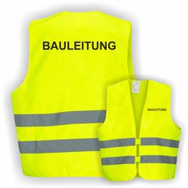 Warnweste GELB DIN EN 471 BAULEITUNG