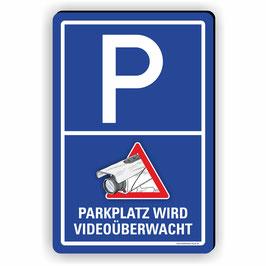 VÜ-010 PARKPLATZ WIRD VIDEOÜBERWACHT