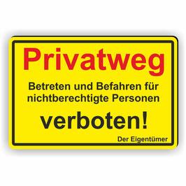 D-016 Privatweg - Begehen und Betreten verboten