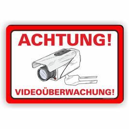 VÜ-008 ACHTUNG VIDEOÜBERWACHUNG