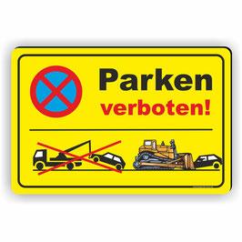 PV-022 Parkverbotschild Parken verboten (gelb)