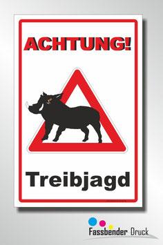 T-025 Achtung Treibjagt mit Schwein